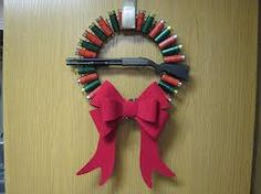Perfect wreath for my bunch 'o redneck Sons!  crafting with shotgun shells - Google Search