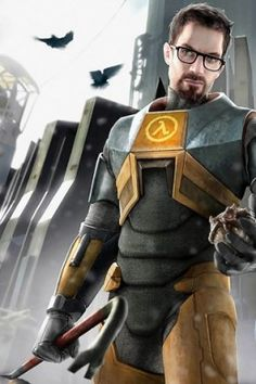 Gordon Freeman - Half Life Series - Best Game in Existence, One of my favourites, awesome attention to detail, the story was so complicated and great. Gordon Freeman, Xbox 360, Playstation, Video Game News, Video Game Art, Half Life Game, Valve Games, Arkham City, Video Game Characters