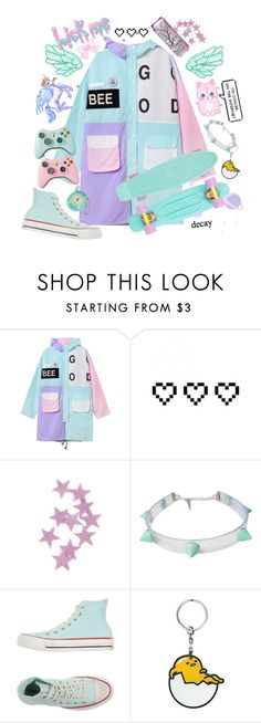 """""""Techno Baby"""" by sleepy-sarcasm ❤ liked on Polyvore featuring Retrò, Converse and ESPRIT"""