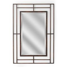 Modern Classic Iron Rectangle Wall Mirror (1159)
