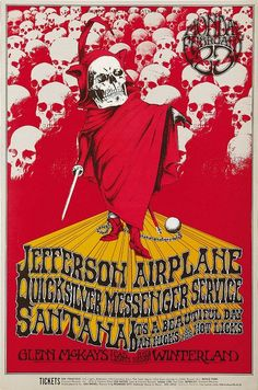 """Classic rock concert psychedelic poster - Jefferson Airplane """"A Benefit For The Grateful Dead"""" Concert Poster Art by Randy Tuten Illustration Photo, Illustrations, Rock Posters, Band Posters, Vintage Concert Posters, Vintage Posters, Vintage Records, Alphonse Mucha, Pop Art Images"""