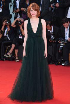 Emma Stone in Valentino at the Venice Film Festival