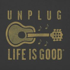 Men's Unplug Guitar Crusher Tee
