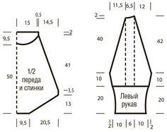 Схема и описание вязания на спицах свитера в пастельных тонах из журнала «Вязание. Мое любимое хобби» №9/2015