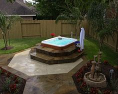 Here is a portable spa that doesn't look portable.  Richard's Total Backyard, Houston, TX