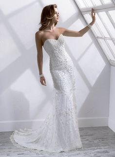 Fabulous Glamoro Elegent Charming Trumpet / Mermaid  Strapless Court Zipper Wedding Dress 2014 at Storedress.com