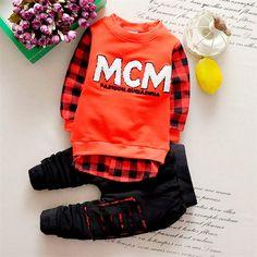 $8.49 (Buy here: https://alitems.com/g/1e8d114494ebda23ff8b16525dc3e8/?i=5&ulp=https%3A%2F%2Fwww.aliexpress.com%2Fitem%2F2016-Baby-Clothes-Suit-T-Shirt-Pants-2pcs-Letter-Boys-Girls-Unisex-Plaid-Kids-Stitching-Holes%2F32736018278.html ) 2016 Baby Suit T Shirt Pants 2pcs Letter Boys Girls Unisex Plaid Kids Stitching Holes Casual Tracksuit Out Clothes for just $8.49