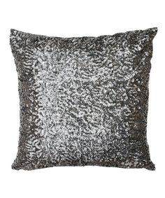 Take a look at this Charcoal Griselda Square Sequin Pillow by THRO on #zulily today!