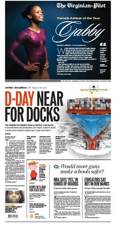 Today's front page. Saturday, Dec. 22, 2012.