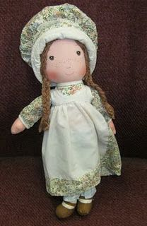 holly hobbie's friend heather  <3 I had a Holly Hobbie doll and plate & a few other things!