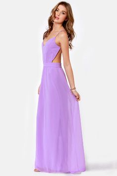 Sexy Backless Dress - Lavender Dress - Maxi Dress