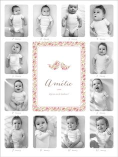 Affichette Un an liberty rose - Page 1 Newborn Baby Photography, Newborn Photos, Bebe 1 An, Foto Newborn, Monthly Baby Photos, Picture Frame Decor, Foto Baby, Baby Portraits, My Little Baby