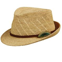 Tommy Bahama Crocheted Raffia Fedora Leather Band Geode Stone Accent f9b1b677c185