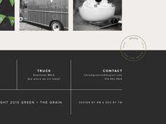 Green + The Grain   Website Footer