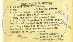 The Vintage Recipe Project: Fruit Cocktail Cake. My Uncle Lucky always made this with warm icing made like German Cocolate coconut icing! Delish!!