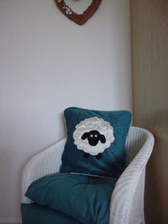 Cushion covers with sheep appliqued on to the front, they are piped with envelope openings Cushion Pads, Cushion Covers, Farm Cottage, Free Motion Embroidery, Textile Art, Sheep, Craft Supplies, Envelope, Applique
