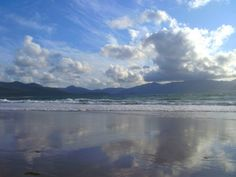 castlegregory co kerry ireland 2013 clouds reflected onto sand