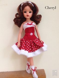 Xmas Sindy rerooted and repainted