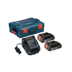 Bosch SKC181-202L 18-Volt Lithium-Ion SlimPack Battery Starter Kit with L-Boxx 2