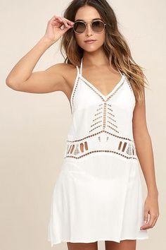 #Lulus - #Lulus Lulus / Exotic Locale White Crocheted Cover-Up / Size Medium - AdoreWe.com