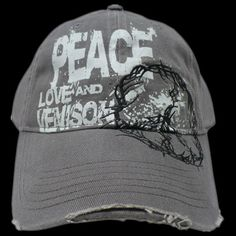 """Peace Love and Venison"" grunge ladies' hat from Lee & Tiffany (The Crush)...happy birthday to me"