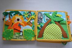 Quiet book Educational game Animals of the world Soft book