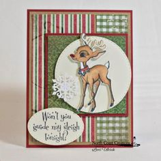 North Coast Creations Stamp Set: Rudolph, Our Daily Bread Designs Paper Collection: Christmas 2013, North Coast Creations Custom Die: Reindeer; Our Daily Bread Designs Custom Dies: Stitched Ovals, Snow Crystals, Double Stitched Circles, Squares, Double Stitched Square