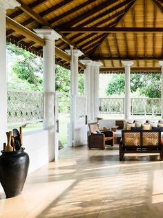 The elegant garden pavilion is the ideal place to enjoy a lazy afternoon tea with friends and family over a game of lawn croquet. #Indistay | Maya, Sri Lanka