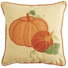Harvest Pumpkin Applique Outdoor Pillow by Pier 1 Imports