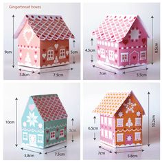 Gingerbread house patterns and template ideas!