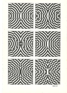 vintage pop art optical illusion art print by RecycleBuyVintage, $8.00