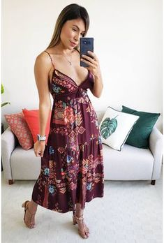 Estilo Hippie Chic, Hippie Boho, Boho Aesthetic, Look Fashion, Ideias Fashion, Strapless Dress, Cashmere, Cute Outfits, Summer Dresses