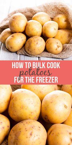 Freezing Potatoes, Freezing Vegetables, Potatoes In Oven, Frozen Potatoes, Twice Baked Potatoes, Fresh Vegetables, Canning Potatoes, Freezing Fruit, Fresh Potato