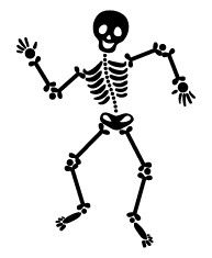 5323e dancing skeleton - Halloween Skeleton Template