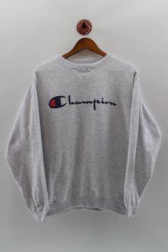 CHAMPION Crewneck Jumper Unisex Medium Champion Big Logo Pullover Sweatshirt Champion Grey Sweater U Best Autumn Winter Fashion Trends For 2020 Source by Sweatshirts Nike Pullover, Pullover Pink, Trendy Hoodies, Hoodie Sweatshirts, Sweatshirt Outfit, Grey Sweatshirt, Cute Comfy Outfits, Trendy Outfits, Champion Pullover