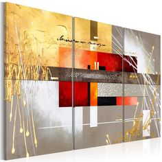 'Four Seasons' Graphic Art Print Multi-Piece Image on Canvas Ebern Designs Size: H x W Abstract Drawings, Abstract Watercolor, Abstract Art, Cactus Painting, Painting Prints, Art Print, Tree Graphic, Graphic Art, Four Seasons