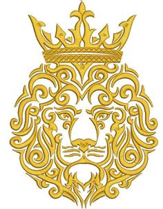 lion in the crown INSTANT DOWNLOAD - Machine Embroidery Design  sizes  260 mm x 180 mm / 10.4 inch x 7.2 inch / 33500 stc  200 mm x 140 mm / 8 inch x 5.6 inch / 27000 stc.  180 mm x 125 mm / 7.2 inch x 5 inch / 23800 stc  - This is not a patch. It is Digital file. You must have an embroidery machine to work with these files. - stabilization is required   - available formats : DST, EXP, XXX, ART, PES, HUS, SEW. VIP VP3 JEF JEF+ for any questions please contact me