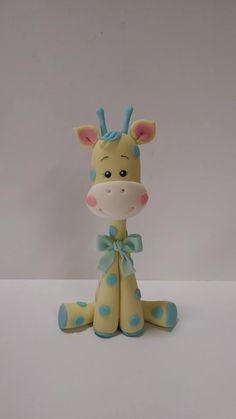 Fondant Giraffe, Fondant Animals, Clay Animals, Fondant Cake Toppers, Fondant Figures, Fondant Bow, Fondant Cupcakes, Fondant Flowers, Cupcake Toppers