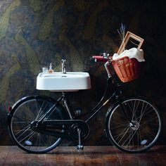 Arcade Pashley Bicycle Washstand With 600mm Basin