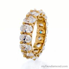 The Finest 5A Faux Diamonds Wedding & Engagement Rings! Sterling Silver and Gold Settings! www.myfauxdiamond.com
