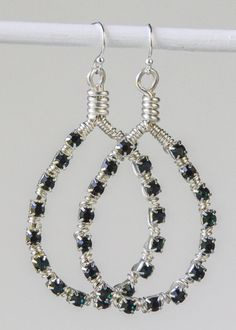 Emerald Cup Chain Earrings - Cherry Tree Beads