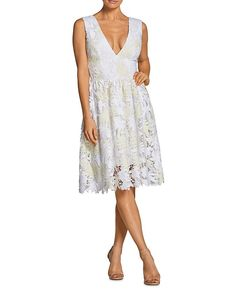 Dress the Population Rita Fit-and-Flare Lace Dress - Eggshell White Fit Flare Dress, Fit And Flare, Lace Top Dress, Frock Fashion, Dress The Population, Little White Dresses, Nordstrom Dresses, Dress Collection, Trending Outfits