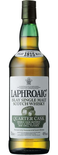 Laphroaig Quarter Cask, Single Malt Whisky at Flaviar Scotch Whisky, Whiskey Or Whisky, Single Malt Whisky, Irish Whiskey, Rum Bottle, Liquor Bottles, Whiskey Bottle, Spiritus, In Vino Veritas