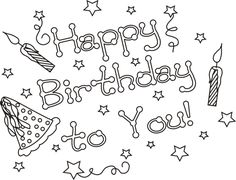 happy birthday to you coloring pages for kids printable birthdays coloring pages for kids - Printable Birthday Coloring Pages