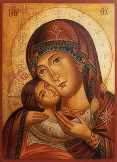 Total Consecration of oneself to Jesus Christ, Wisdom Incarnate, through the hands of Mary according to St. Louis Marie de Montfort: D. Religious Pictures, Religious Icons, Religious Art, Divine Mother, Blessed Mother Mary, Byzantine Art, Byzantine Icons, Madonna Art, Images Of Mary