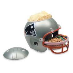 New England Patriots Snack Helmet - BedBathandBeyond.com.. Coolest thing I've ever seen!