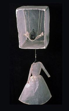 Matriarch  - Serena Buschi - wire, glassine, canvas, thread, weight - 2001