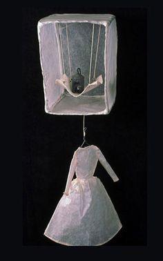 Matriarch - Serena Buschi - wire, glassine, canvas, thread, weight - 2001