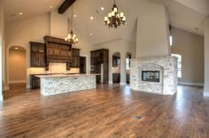 Garner Custom Homes Portfolio. Open concept