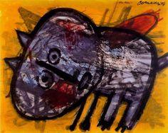 Cat by Corneille Chaim Soutine, Cobra Art, Art Informel, Group Art, Scandinavian Art, Dutch Painters, Dutch Artists, Art Database, Naive Art
